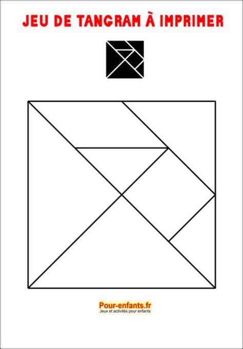 tangram  imprimer maternelle gratuit jeux tangrams