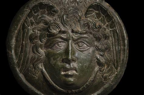 Roman Bronze Medusa Phalera with Silver Inlays - Baidun Baidun