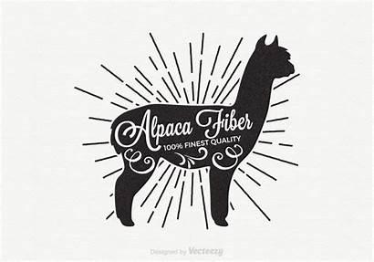 Alpaca Retro Svg Label Silhouette Clipart Vecteezy