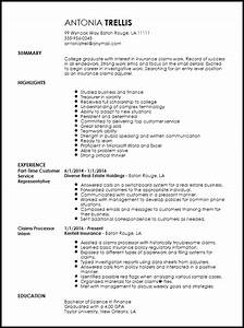 Free entry level insurance claims adjuster resume template for Entry level insurance adjuster resume