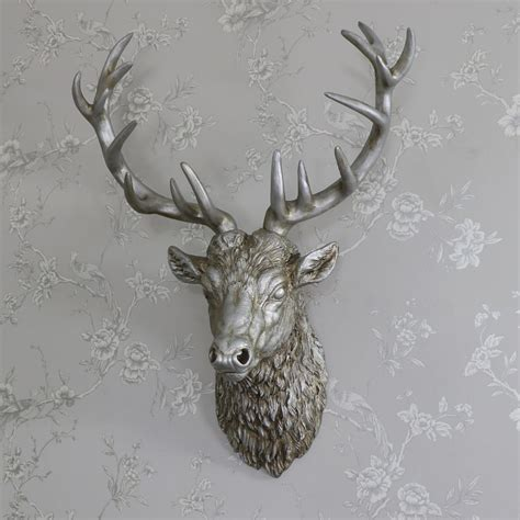 Large Silver Wall Mountable Stag Head  Melody Maison®. Paint Colors For A Living Room. Jo Malone Room Spray. Ideas To Decorate Living Room. Tuscan Living Room Furniture. Nursery Decor Boy. Outdoor Tea Party Decorations. Chairs For Girls Room. Room To Go Orlando