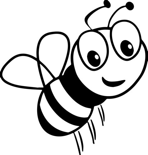 bee coloring page bee smile coloring page wecoloringpage