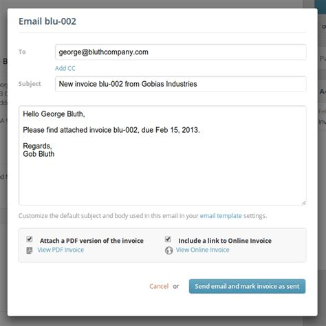 sending  invoice paydirt invoicing