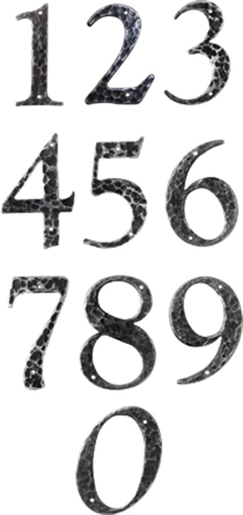 Retro style house numbers, perfect for 40s 50s and 60s
