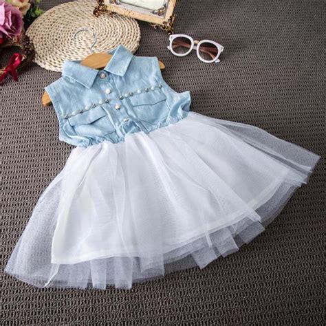 toddler baby kid girl princess party clothes denim