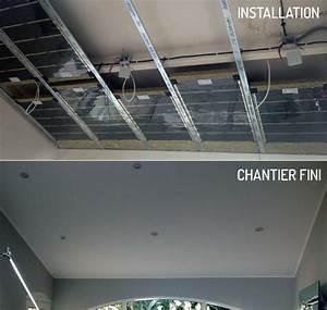 Faux Plafond Autoportant : plafonds et faux plafonds metalliques tous les ~ Nature-et-papiers.com Idées de Décoration