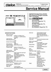 Clarion Vrx925vd Sm Service Manual Download  Schematics