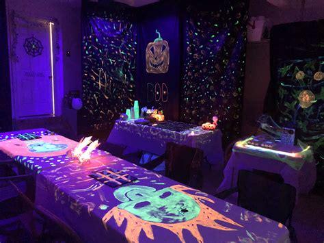 black light party blacklight party creative decor
