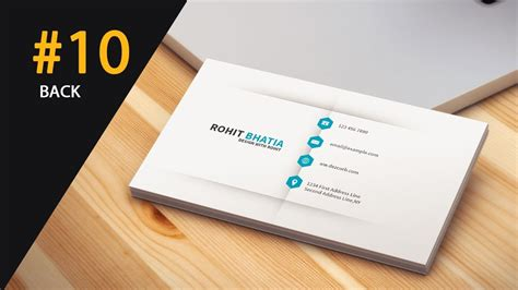 #10 How To Design Business Cards In Photoshop Cs6 Back Business Card Real Estate Company Reader Barclays Toronto Fast Office Lens Pro Android Google App Netspend Small Agent Holder