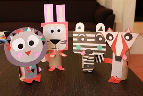toilet paper roll animals easy paper crafts  kids