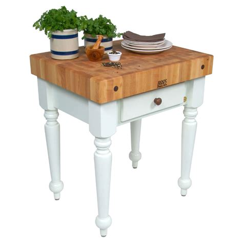 john boos rustica butcher block kitchen island table
