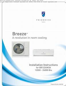 Friedrich Air Conditioner Br1224w3a Users Manual Breeze