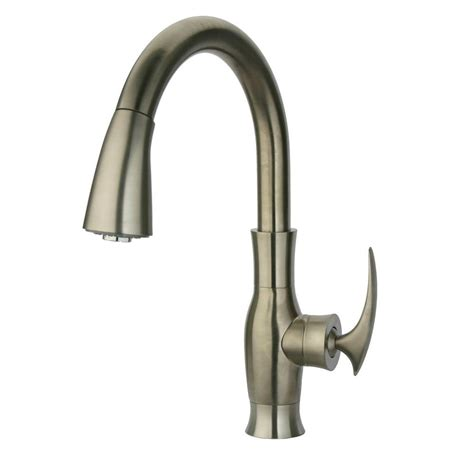 brushed nickel single handle kitchen faucet latoscana firenze single handle pull sprayer kitchen
