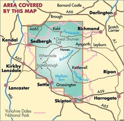 yorkshire dales british mountain map harvey maps map