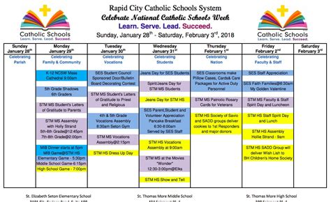 national catholic schools week rccss