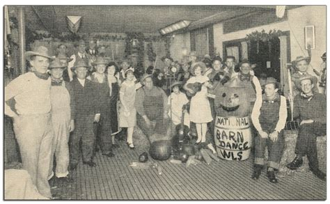 An Early Picture Of The National Barn Dance Troupe In The