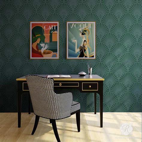 gatsby glam art deco wall stencil royal design studio