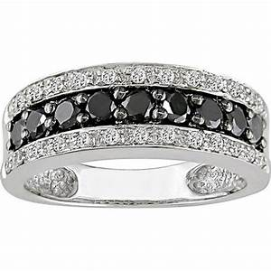 Unique wide band wedding rings for women andino jewellery for Womens black diamond wedding rings