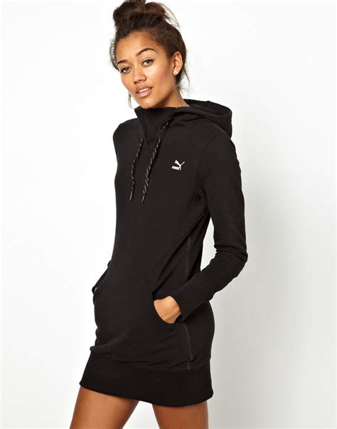 Lyst - Puma Hoodie Dress in Black