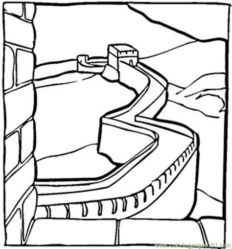 great chinese wall coloring page  china coloring