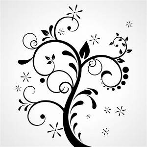 Vector for free use: Floral ornament on grey