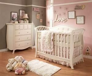 Ideen Kinderzimmer Mädchen : baby kinderzimmer ideen m dchen rosa graue wand ideen ~ Lizthompson.info Haus und Dekorationen