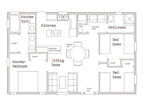 small house plans 1000 sq ft small two bedroom house plans small one story homes