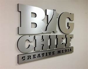 office lobby signs 3d wall logo signs buena park With brushed aluminum dimensional letters