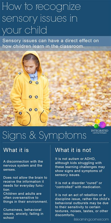 how to recognize a sensory processing disorder in your 786 | sensory proessing chart pinterest