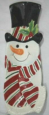 foto de Fitz And Floyd Essentials Snack Therapy Snowman Tray ~ 14