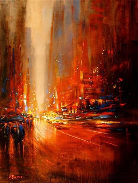 dynamic cityscapes painted with energy my modern met