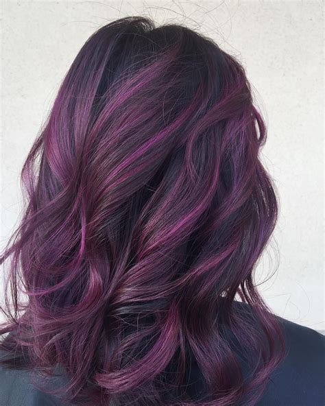 black  purple hair styles   evoked interest