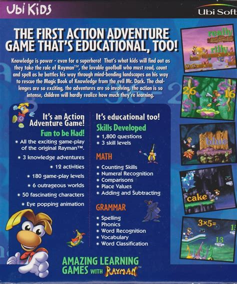 Amazing Learning Games With Rayman (1996) Dos Box Cover