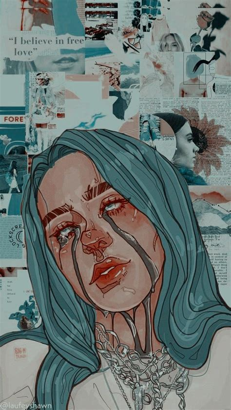 billie eilish drawing aesthetic wallpapers wallpaper cave