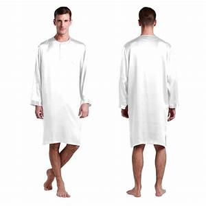 22 momme mens silk nightshirt With robe pour dormir