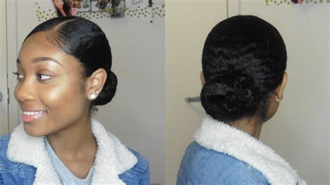 Sleek Bun On Thick Natural Hair Hairstyles School Using No Heat Hair Accessories Gift Basket Medium Lob How To Do Up Short Styles African American Pixie Brown Partial Highlights Asian Haircut New Orleans Curly Milwaukee