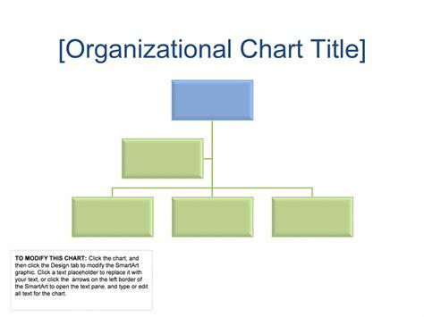 Easy Organizational Chart Template