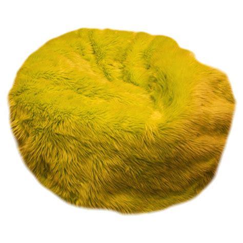 fuzzy fur bean bag black fuchsia lime green purple