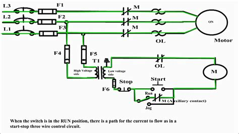 Jogging Circuit Control Electrical Motor Jog
