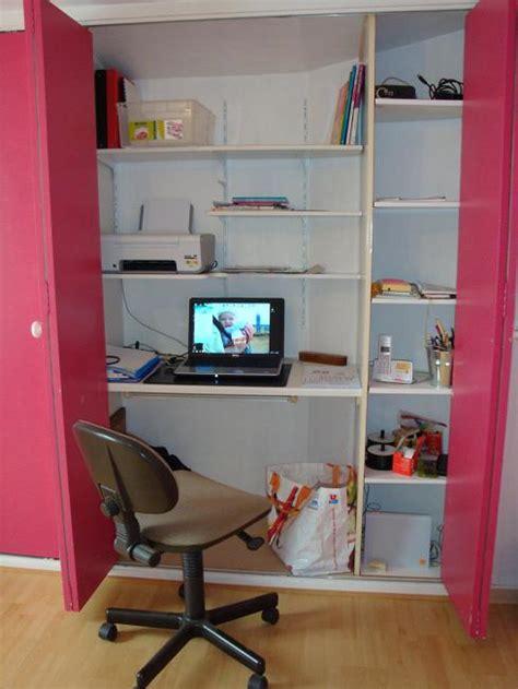 bureau dans placard placard bureau forum décoration mobilier système d