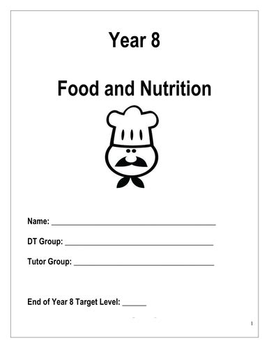 food booklet by goldofinger teaching resources tes