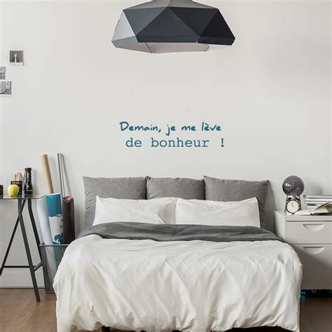 stickers phrase chambre adulte cool stickers de phrase sur le bonheur with stickers pour