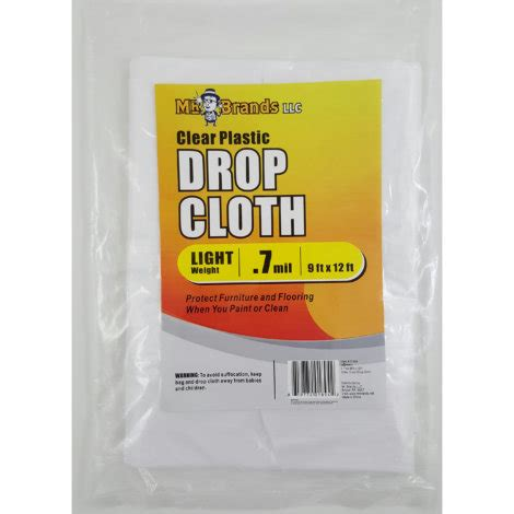 Mr Brands Clear Plastic Drop Cloth By Mr Brands At Fleet
