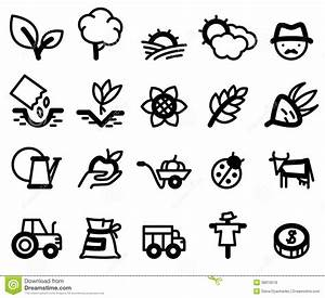 Agriculture icons stock illustration. Illustration of ...