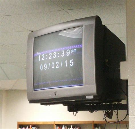 wall mounted tvs  removed  horry classrooms