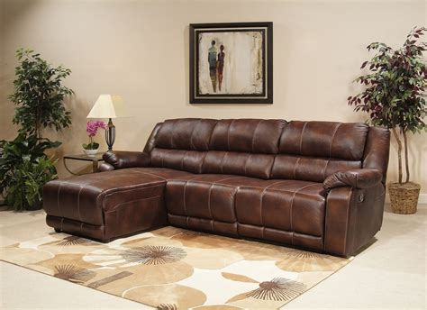 leather reclining sectional with chaise leather brown sectional with chaise and recliner prefab