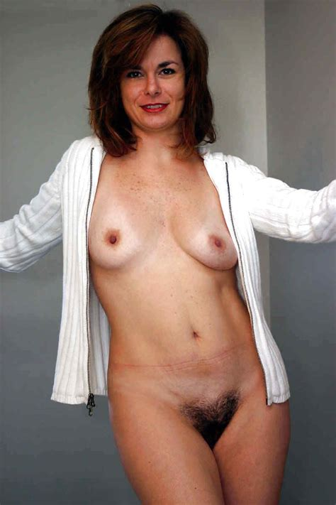 Milf In A White Sweater Hairy Pussy Luscious
