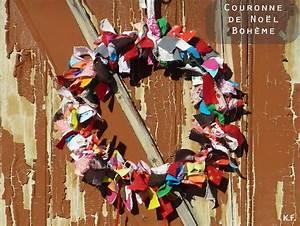 Faire Une Couronne De Noel : faire une couronne de no l en tissu kameleon factory ~ Preciouscoupons.com Idées de Décoration