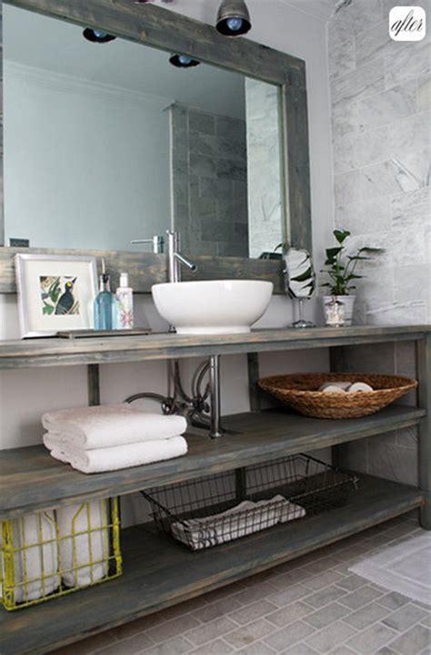 Bathroom Inspiration  Open Shelf Vanity  Postcards From. Phantom Screens. Sherwin Williams Emerald Paint Reviews. Rustic Office Desk. November Rain Paint. Cool Bathrooms. Shower Corner Shelves. Wallpaper Bathroom. Unique Doormats