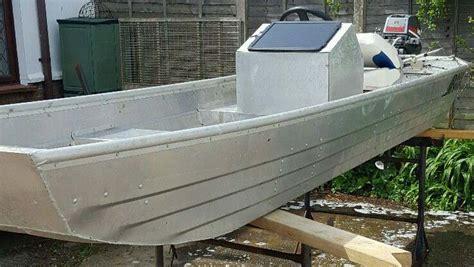 Flat Bottom Boat Console by Flat Bottom Aluminium Boat Circa 2013 3970mm X 1070mm